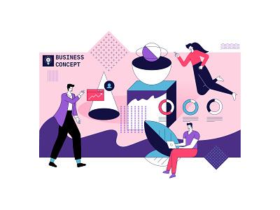 Business concept illustration flat artwork design vector illustration graphic design