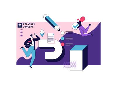 Business concept illustration graphic design flat artwork design art vector illustration