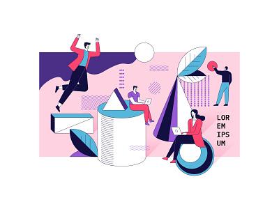 Business concept illustration flat artwork design art vector illustration