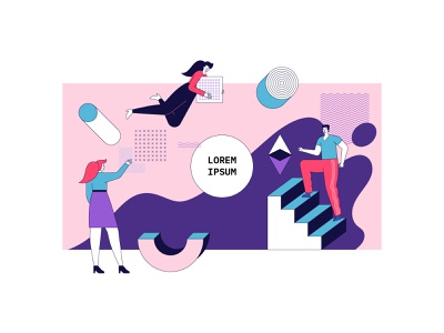 Business concept illustration graphic design flat artwork art design vector illustration