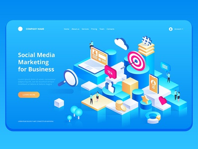 Marketing Strategy for Business isometric vector illustration management strategy analysis business isometric concept design art vector illustration