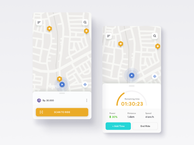 Bycicle rent bycicle casestudy rental app rent android app design concept ux ui
