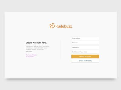 Kudobuzz - Sign Up