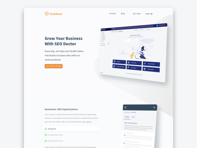 Kudobuz Seodoctor Page Concept