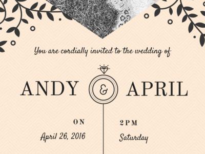 Wedding Invitation Detail