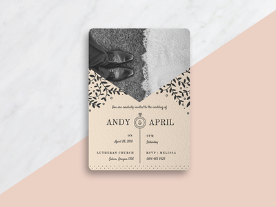 Wedding Invitation Mockup parks and rec romantic wedding ring typography invitation wedding