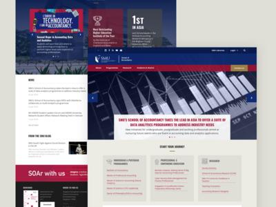 School of Accountancy Preliminary Studies website design homepage accountancy smu university