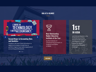 School of Accountancy at a Glance smu soa slider infographic facts