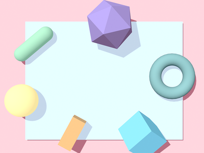 Shapes Experiment pastels c4d 3d 3d for designers