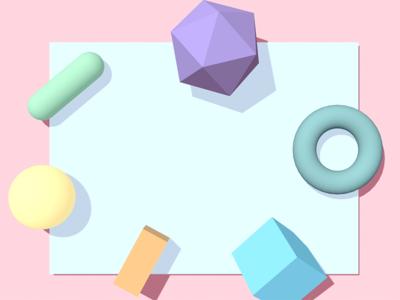 Shapes Experiment pastels c4d 3d 3d for designers