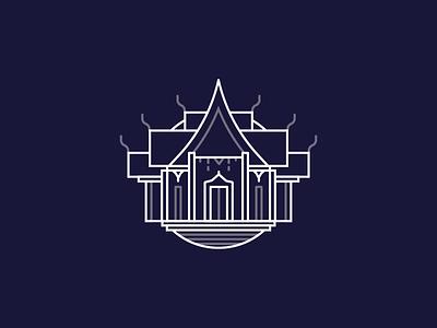 Bangkok Temple Icon line icon icon bangkok thailand bkk