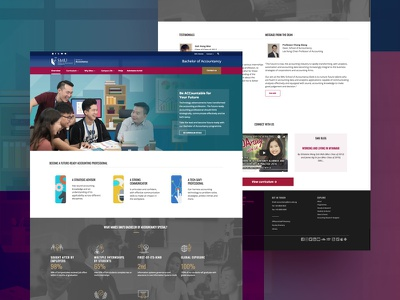 Bachelor of Accountancy website design homepage accountancy smu university