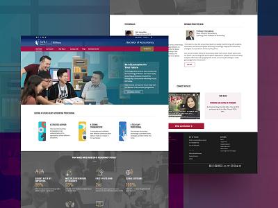 Bachelor of Accountancy website design homepage accountancy smu university