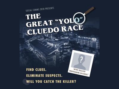 Who killed Professor Change? stranger things event invitation suspense detective cluedo