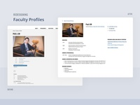 Redesigning Faculty Profiles