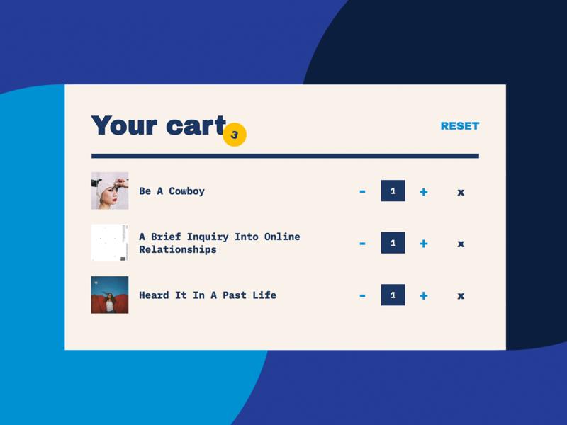 Album Shopping Cart music shopping cart cart layout typography
