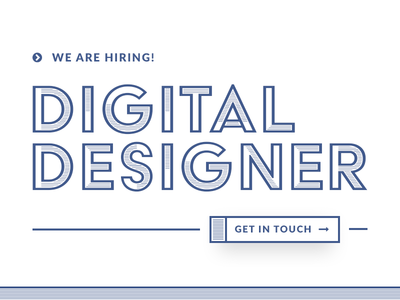 We're Hiring a Designer! jobs hiring creative ux ui design