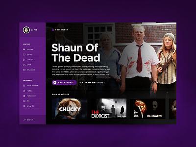Happy Halloween! imdb film dashboard guide movie purple ux netflix tv ui halloween