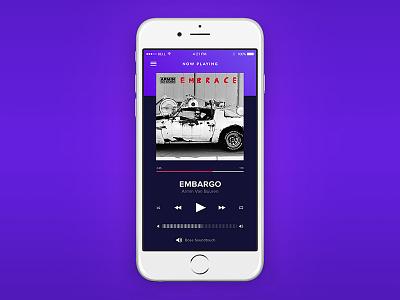 Music Player UI daily ui apple iphone ios ui app mobile spotify music