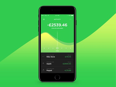 Finance UI ios iphone mobile dailyui ui app finance money bank