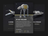 Star Wars Vehicle Guide UI