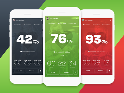 HR Fitness Tracker App design app graphic design iphone mobile photoshop typography heart fitness ux ui ios