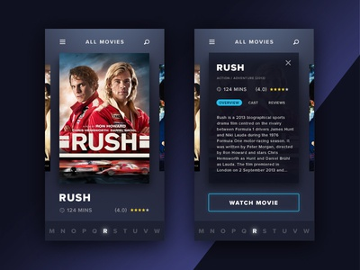 Movie UI iphone apple ios ux mobile guide search tv netflix film ui movie
