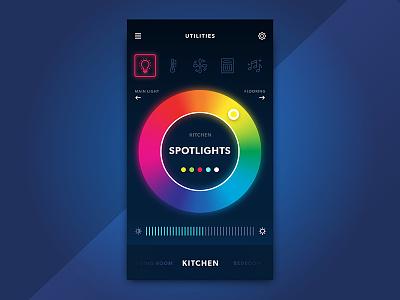 Smart Home App UI #3 ux ui temperature smart home smart mobile ios energy design control app