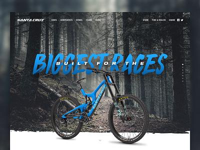 Santa Cruz MTB Landing Page cycling landing page mountain bike web design ux ui web branding design