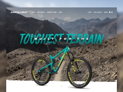 Santa Cruz MTB Landing Page V2 web design web ux ui mountain landing page design cycling branding bike