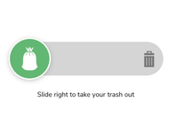 Slider - Microinteraction - Trash Pickup ux trash pickup app design ui micro interaction