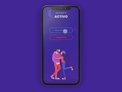 Dating App UI Interaction mobile app mobile design design animated ux ui app design illustration animation ui design dating app