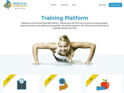 Body training program landing page