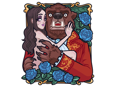Beauty and the Beast girl sexy bear monster illustration character procreate beauty beast witcher bruxa nivellen