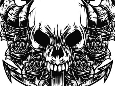 demon skull by valerii matiukhin dribbble dribbble