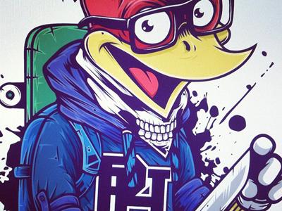 Badass Woody. Color illustrator illustration vector woody woodpecker color