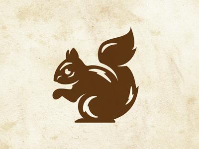 Happy Little Squirrel illustration icon