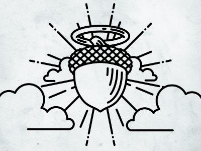 Holy Oak illustration icon
