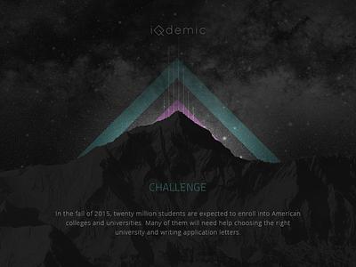 The start - iQdemic's case study education challenge mountain dark