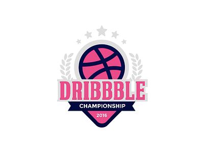 Dribbble Championship  logo ball vector illustration championship dribbble