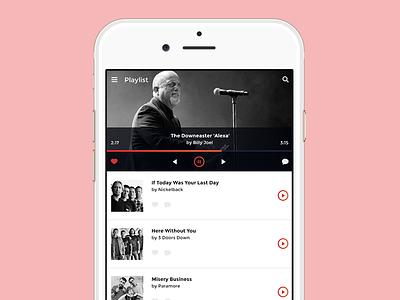Music Player app interface player music