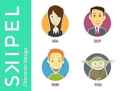 Skipel's Assistants  illustration meeting consultants assistants characters