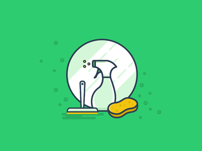 Spring Cleaning window illustration icon cleaning