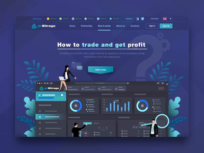 How It Works Page for ArBitrage Crypto Trading Platform how to onboarding ui web app saas design saas landing page saas website landing page extej dark ui how it works onboarding web design dashboard investment blockchain crypto payment banking fintech finance