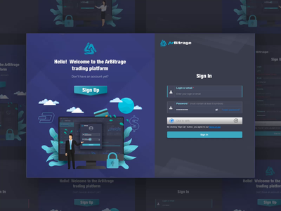 Sign In Sign Up Page Design for Crypto Trading Platform product design illustraion extej dark ui web app saas registration page login screen login form login page sign up sign in signup investment web design crypto payment banking fintech finance