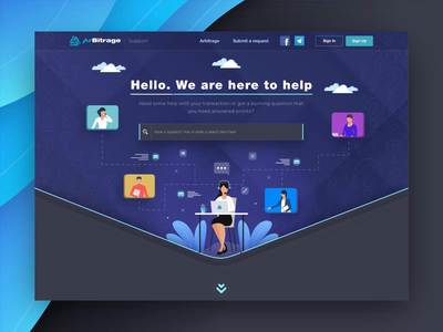 Zendesk Support Ticketing System UI/UX Design for Web App ticketing help desk service application service app web app saas how it works how to support page ticket app support extej investment web design crypto payment banking fintech finance zendesk