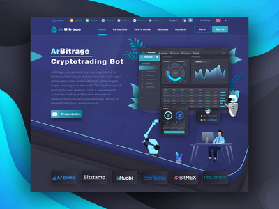 Functional Animation of the Landing Lead Page First Screen web app first screen extej saas landing page saas website landing page trading platform trading lead page animation saas illustration dashboard blockchain investment crypto payment banking fintech finance