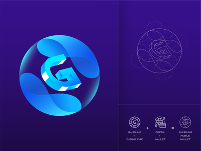 Logo Design for GMW Fintech SaaS Mobile Application brand design product design saas gradient casino logodesign investment extej branding design gambling design gambling brand identity branding logo design crypto banking fintech finance logotype logo