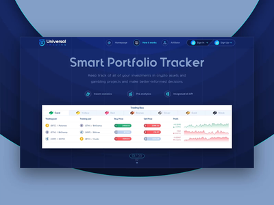 Landing page for Crypto Wallet Web App with Trading Dashboard cryptocurrency crypto wallet wallet ui transition landing page design trading dashboard ui ui design ui ux webdesign ui saas dashboard extej web design crypto payment banking fintech finance