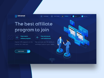 Affiliate Program Landing Page UI design for Crypto Wallet dark ui product design saas website saas landing page crypto wallet ui  ux web ui ux web ui web landing page affiliate marketing affiliate saas ui extej web design crypto banking fintech finance
